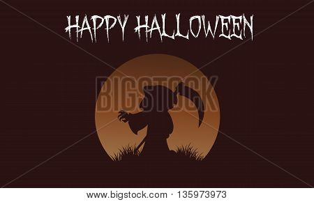 Happy Halloween warlock backgrounds vector art illustration