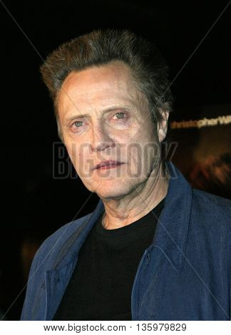 Christopher Walken at the Los Angeles premiere of 'Around The Bend' held at the Directors Guild Of America in West Hollywood, USA on September 21, 2004.