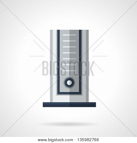 Portable column air conditioner for room. Modern climatic appliances, household and office equipment. Flat color style vector icon.