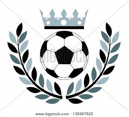 Soccer ball. Vector illustration on white background
