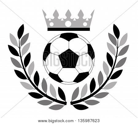 Soccer ball with crown. Illustration on white background