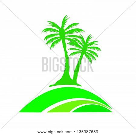 palm tree image art on white background