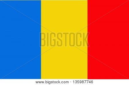Original Flag of Romania vector illustration art