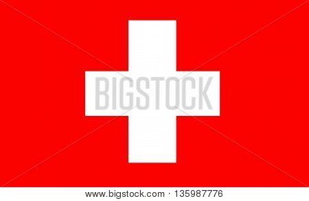 Original Flag of Switzerland illustration art design