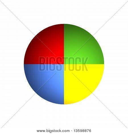 25% Business Pie Chart