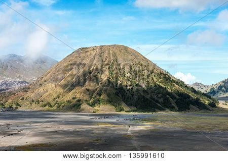 Mount Batok in the Bromo caldera Eastern Java