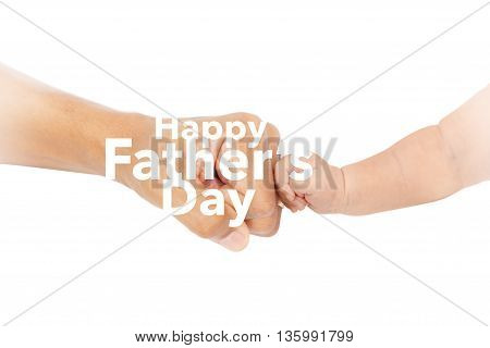 Happy father's day fist bump on white background