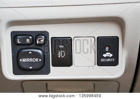 The wing mirror personal car control panel