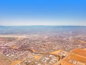 Aerial view on Silicon Valley with a slight tilt shift effect. poster