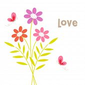 Bouquet of flowers.vector illustration poster