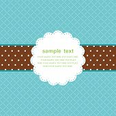 Template frame design for greeting card poster
