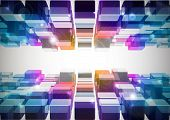 Abstract 3D Digital  Art poster