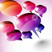3D Speech Bubbles Design poster