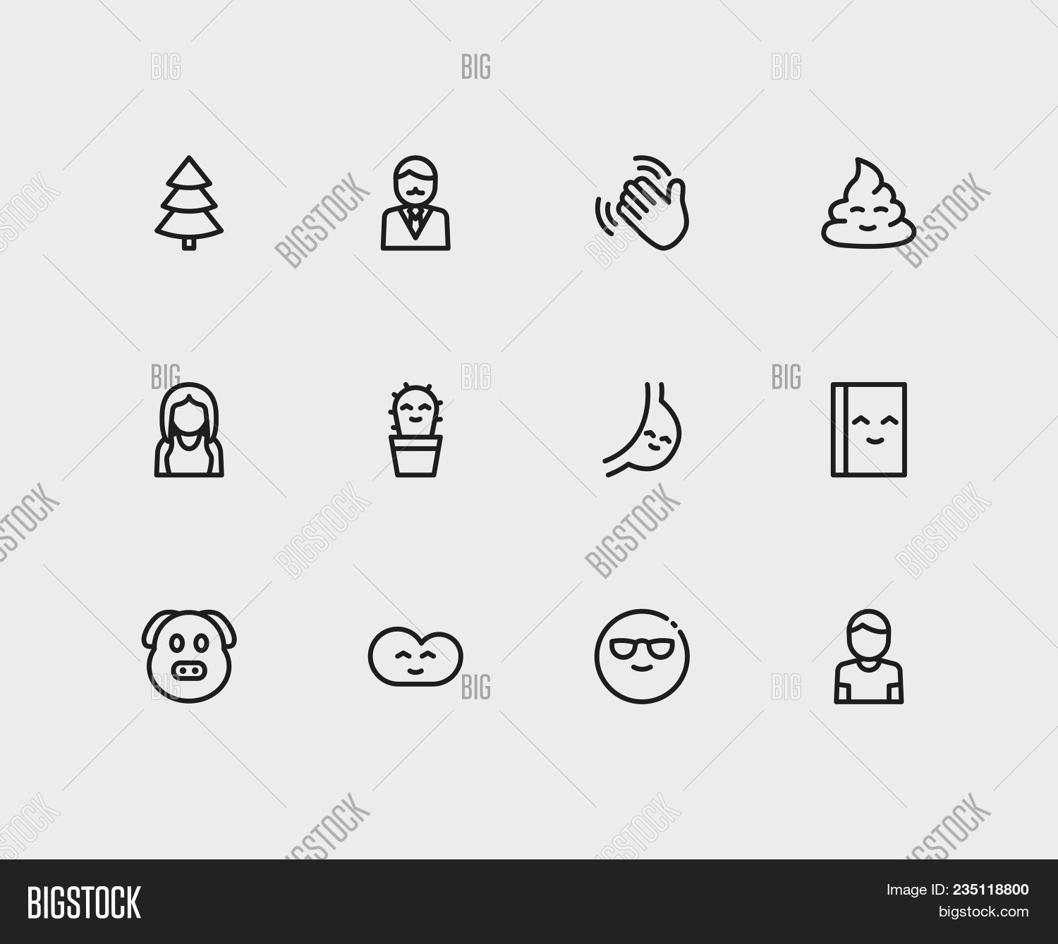 Emoji icons set cool emoji image photo bigstock emoji icons set of cool emoji business cartoon and cute cactus emoji sign symbols biocorpaavc Images