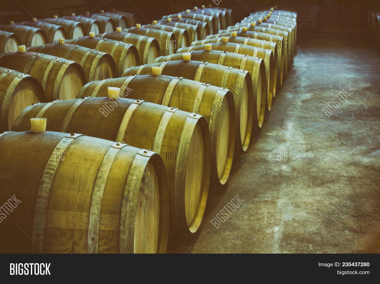Wine Barrels Wine- Image & Photo (Free Trial) | Bigstock