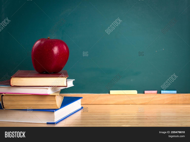 Apple Still Life Back To School Blackboard Education Chalkboard Background