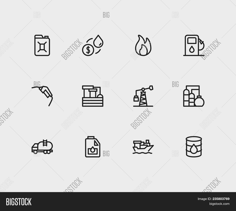 Energy Icons Set Oil Image Photo Free Trial Bigstock