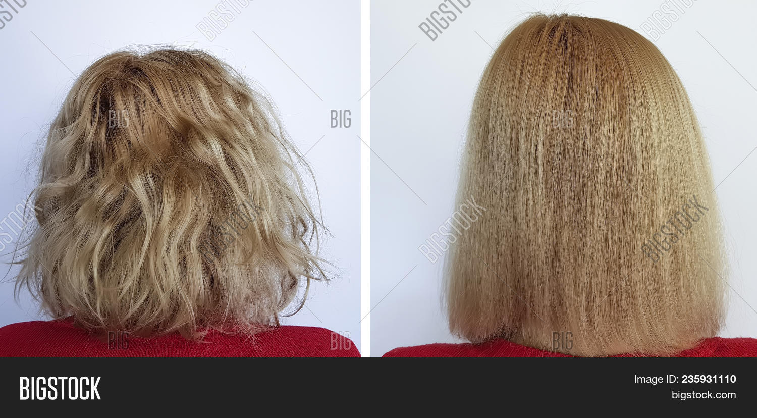 Lamination of hair: before and after. Hair Laminating Agent 94