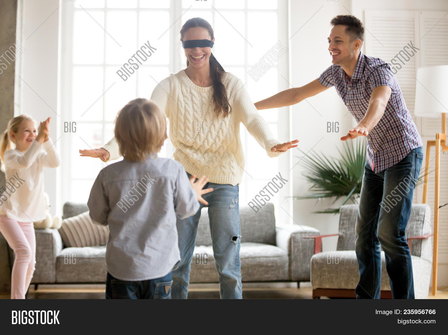 Family Playing Hide Image Photo Free Trial Bigstock