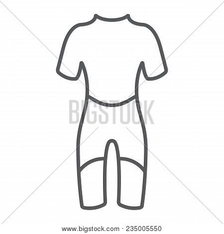 Diving Suit Thin Line Icon, Diving And Underwater, Scuba Suit Sign Vector Graphics, A Linear Pattern