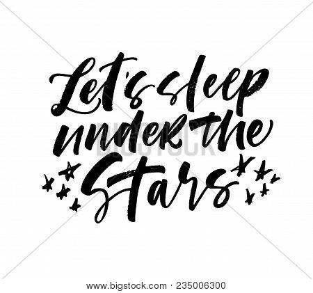 Let's Sleep Under The Stars Card.