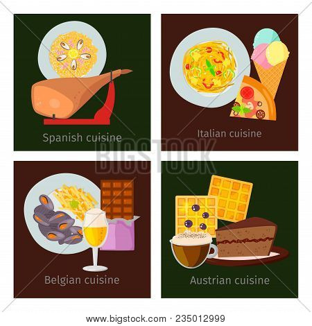 European Vector Food Cuisine Tasty Dinner Food Showing Delicious Luxury Italy Rome Rustic Snack Plat