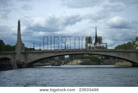 Bridge And Notre Dame