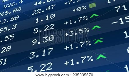 Stock market crash, figures dropping on ticker display, global economic crisis, stock image poster