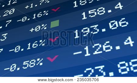 State Economics Revival, Company Assets Price Growth On Stock Market Display, Stock Image