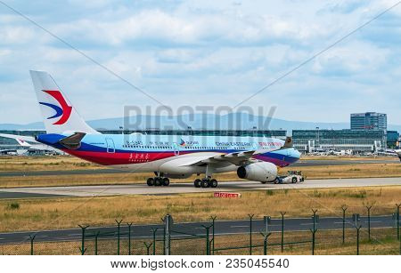 AIRPORT FRANKFURT,GERMANY: JUNE 23, 2017: airbus a330 China Southern Airlines is the largest airline based in Guangzhou and based at Guangzhou Airport. She is a member of the aviation alliance SkyTeam