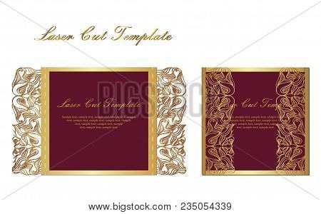 Flyer Holiday Card, Frame For Congratulations On Your Wedding, Valentine S Day, Birthday, Invitation