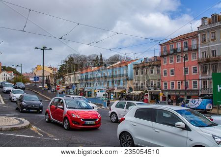 Lisbon Portugal. 04 April 2018. Rato Square In Lisbon.lisbon, Portugal. Photography By Ricardo Rocha