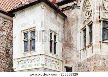 Towers And Windows Of The Corvin Castle, Also Known As Castelul Corvinilor Is A Gothic-renaissance C