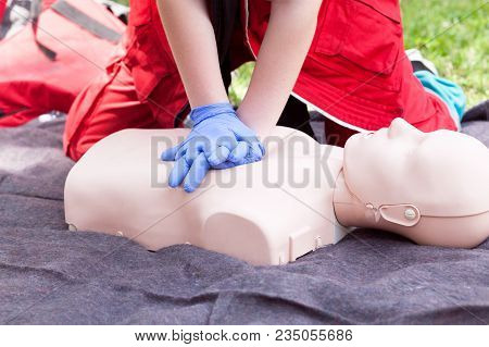 First Aid Training. Cardiopulmonary Resuscitation - Cpr.