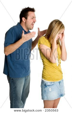 Angry Fighting Couple