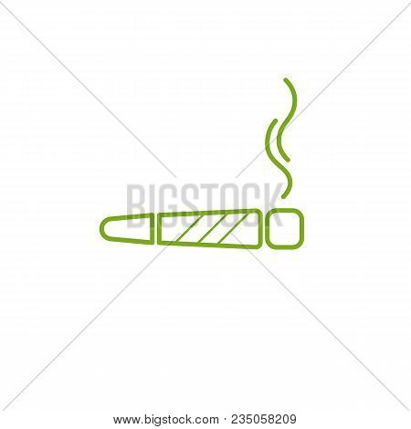 Cigarette With Drug, Marijuana Cigarette Rolled. Joint Or Spliff. Drug Consumption, Marijuana And Sm