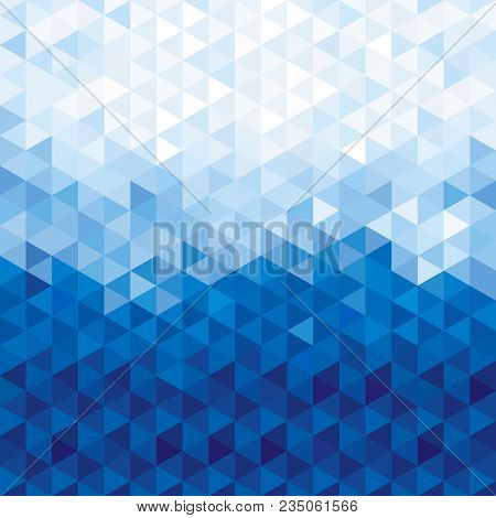 Blue Crystal Background. Triangles Background, Geometric Background.