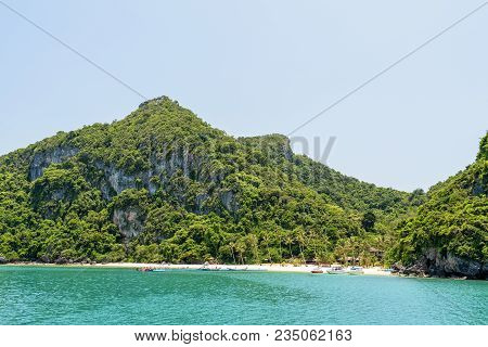 Beautiful Natural Landscapes Of The Island, Beach And Sea During Summer At The Floating Pier Front O
