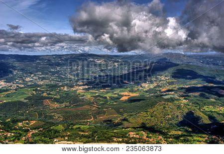 Panoramic View Of Farinha Mountain In Mondim De Basto, Portugal