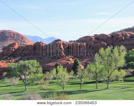 Views From The Red Saint George Sandstone Quarry Trail Or Temple Quarry Trail Nestled In The Hills J