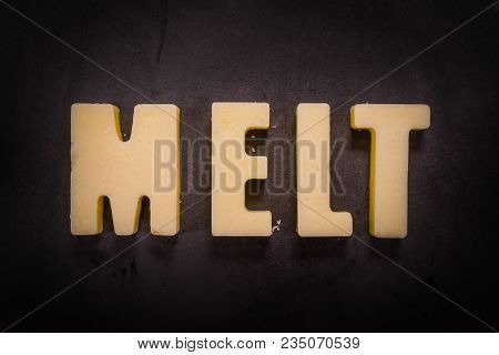 Butter Words Melt On Cast Iron Skillet