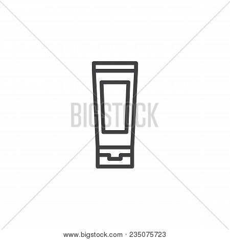 Toothpaste Tube Outline Icon. Linear Style Sign For Mobile Concept And Web Design. Oral Hygiene Simp