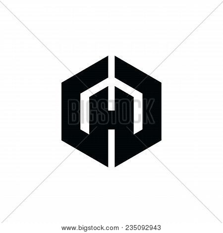 Hexagon - H Hexagon Vector Logo Concept Illustration. Hexagon Geometric Polygonal Logo. Hexagon Abst
