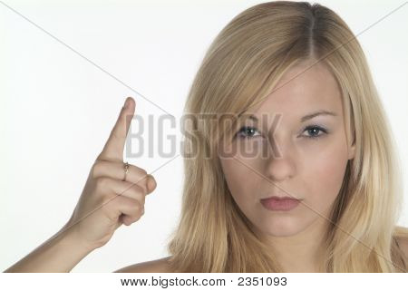 Woman Shows Finger