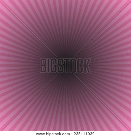 Pink Abstract Ray Burst Background - Motion Vector Graphic Design From Striped Rays On Black Backgro