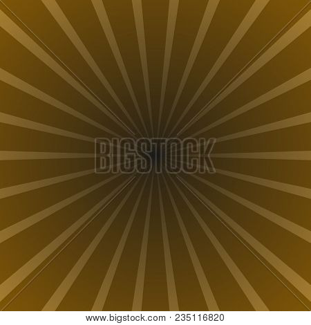 Brown Abstract Sun Rays Background - Gradient Vector Graphic Design With Radial Ray Stripes