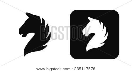 Horse Head Vector Icon Isolated On White Background. Horse Head Logo. Horse Head Silhouette