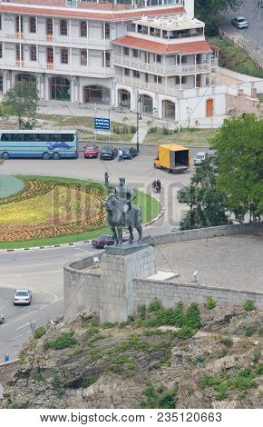 Tbilisi, Georgia - August 07,2013: Europe Square And Rike Park In The Center Of Tbilisi. Georgia