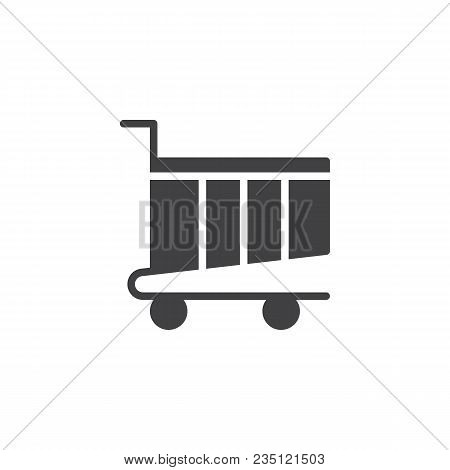 Shopping Card Vector Icon. Filled Flat Sign For Mobile Concept And Web Design. Shopping Trolley Simp