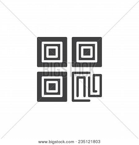 Qr Code Vector Icon. Filled Flat Sign For Mobile Concept And Web Design. Simple Solid Icon. Symbol,